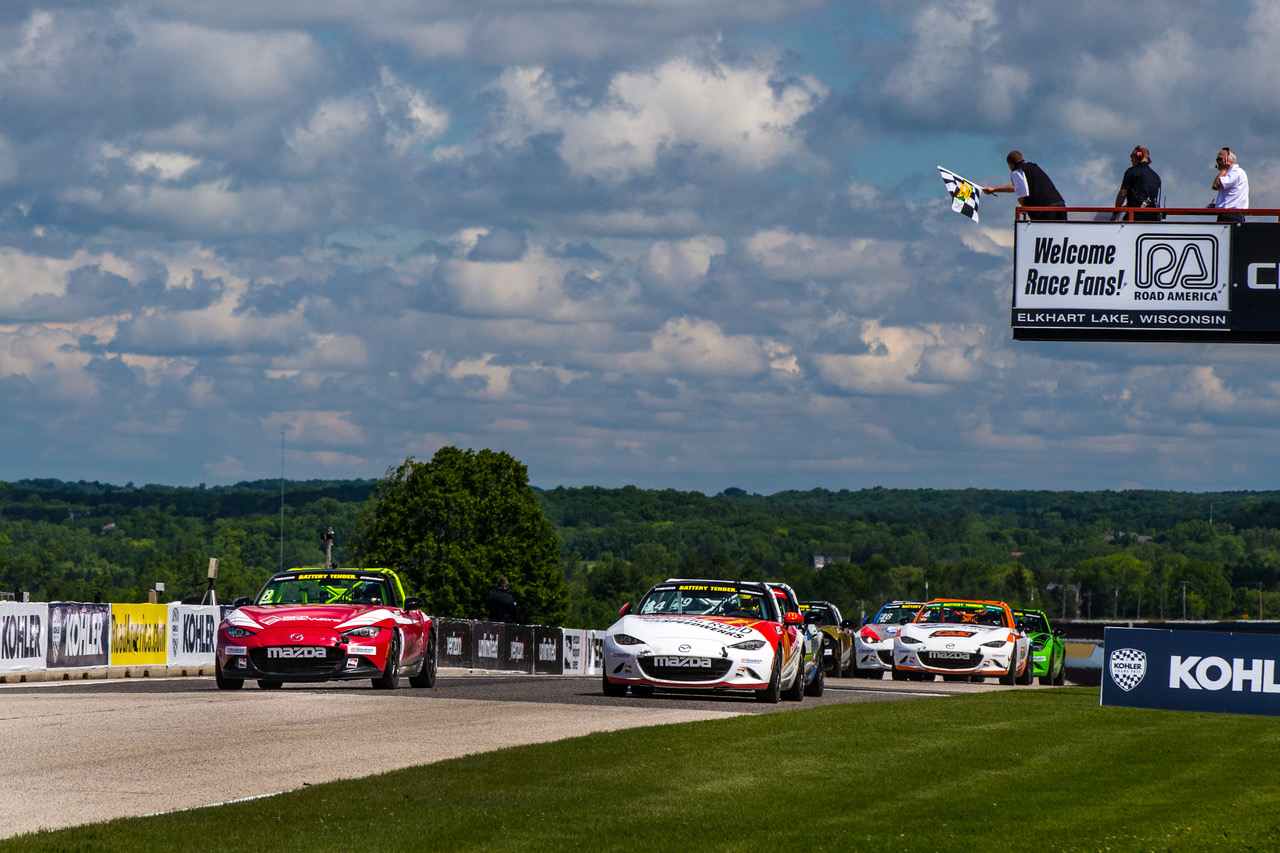 Sparks Takes Photo Finish Global MX-5 Cup Victory…