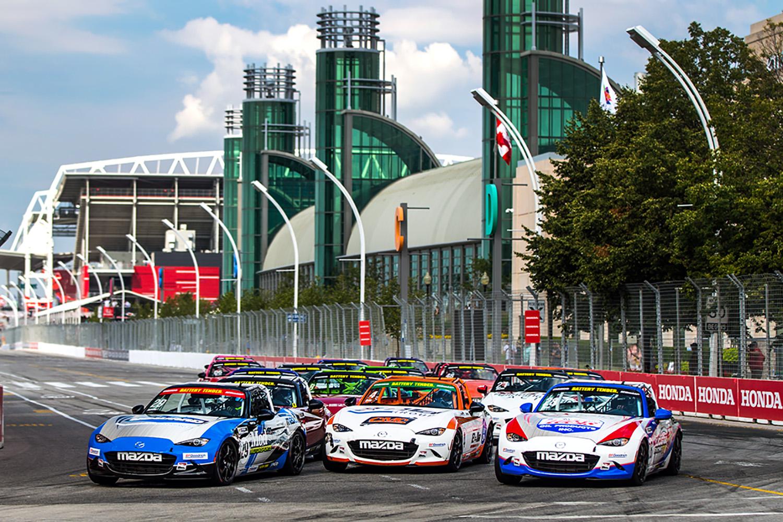Patrick Gallagher Dominates Second Day of Mazda MX…
